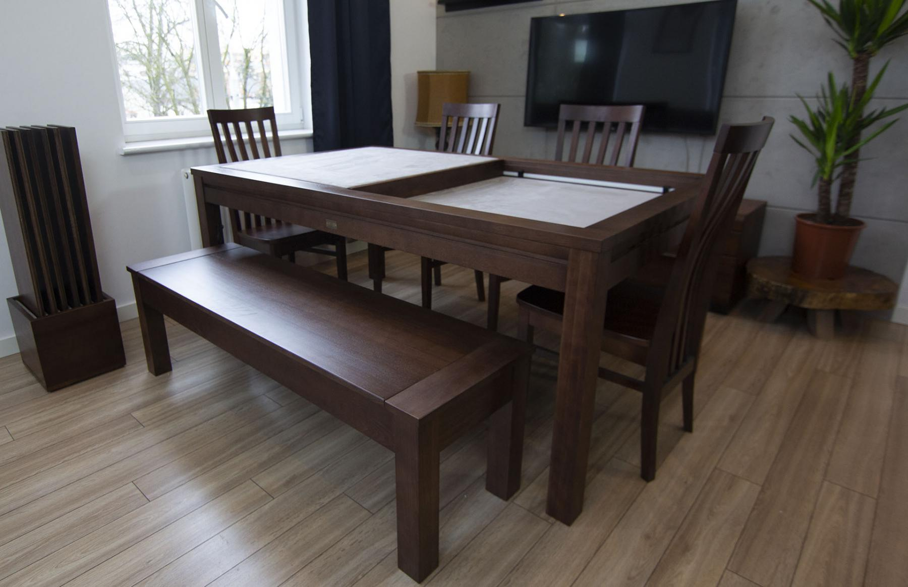 Denis Game Table – Walnut Version 2